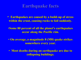 Where earthquakes?