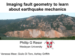 Imaging fault geometry to learn about earthquake