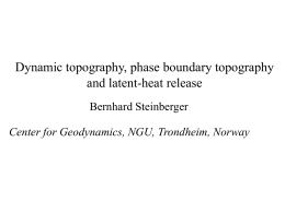 Dynamic topography