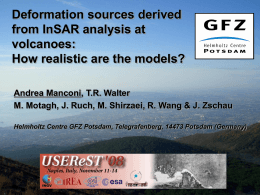 InSAR derived deformation source characteristics at
