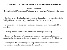 Extinction Relation in the 4th Galactic