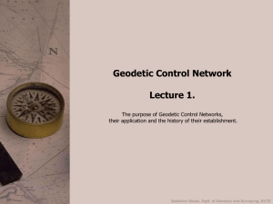 Geodetic Control Network