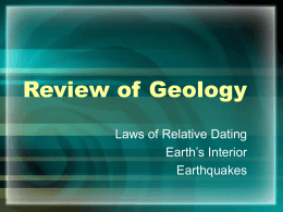Review of Geology