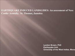 EARTHQUAKE INDUCED LANDSLIDES: An assessment of Ness