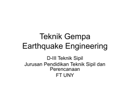 Teknik Gempa Earthquake Engineering