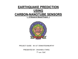 EARTHQUAKE PREDICTION USING CARBON