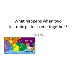 What happens when two tectonic plates come together?