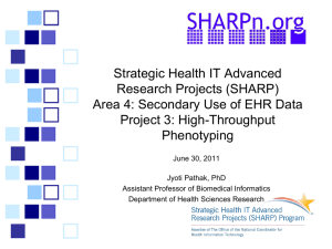 Strategic Health IT Advanced Research Projects (SHARP) Area 4