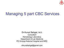 Newer parameters and managing CBC Services with a 5 Part