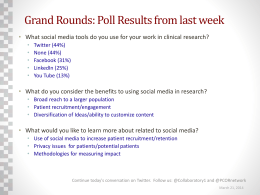 Collaboratory Grand Rounds poll results: 3/21