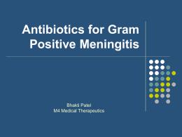 abx for gram positive meningitis