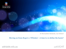 Moving on from Rogers v Whitaker : A time to re
