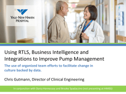 Using RTLS, Business Intelligence and Integrations to Improve