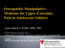 Zeller_Upper Extremity Pain and OMM in Adolescent
