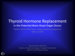 Thyroid Hormone Replacement in the Potential Brain