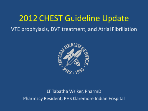 2012 CHEST Guideline Update