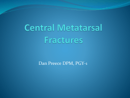 Central Metatarsal Fractures