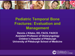 Pediatric Temporal Bone Fractures: Evaluation and