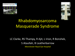 Rhabdomyosarcoma Masquerade Syndrome