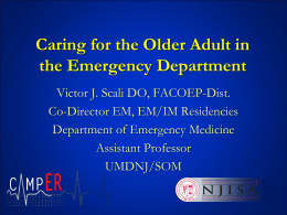 Emergency Department Approach To The Geriatric Patient