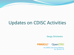 Pres5_Updates on CDISC activities - 20140113 NJ