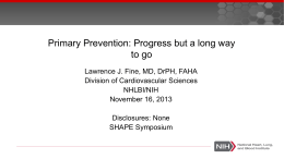 slides - Society for Heart Attack Prevention and Eradication