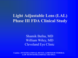Light Adjustable Lens - Clear Choice Laser Eye Centers