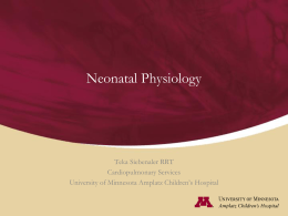 Neonatal Physiology