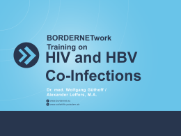 Education material on HIV/hepatis B coinfection