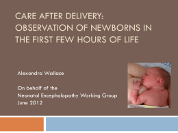 Review of DHB Guidelines for Observation of Babies in the First Few