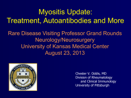 Myositis Update: Treatment, Autoantibodies and More