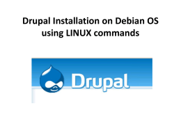 Drupal Installation on Debian OS using LINUX commands