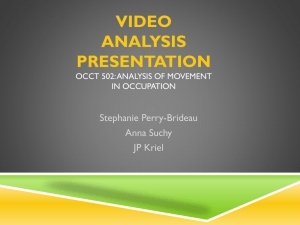 Video analysis presentation