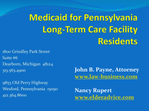 Medicaid in Pennsylvania - Power Point - Law