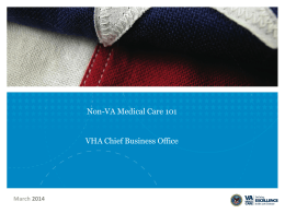 Non-VA Medical Care 101 - AFGE National VA Council