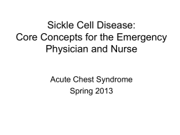 Acute Chest Syndrome - Emergency Department Sickle Cell
