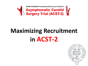 Maximising Recruitment - ACST-2