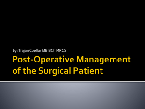 Post-Operative Management - Residency Home