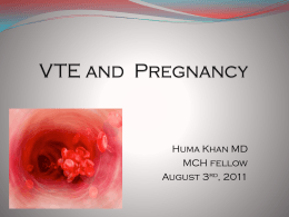 DVT and Pregnancy