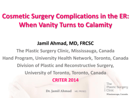 Cosmetic Surgery - CriticalCareMedicine