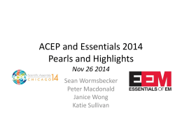 ACEP and Essentials 2014