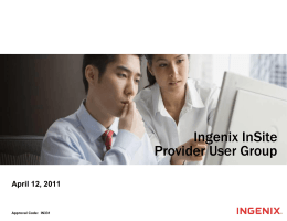 Ingenix InSite User Group