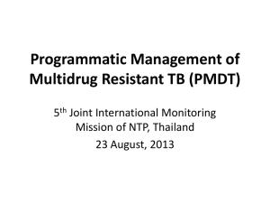 The 5th Joint Monitoring Mission of the NTP in Thailand - CAP-TB