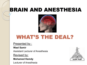 BRAIN AND ANESTHESIA - asja