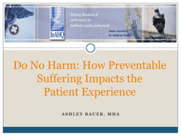 How Preventable Suffering Impacts the Patient Experience
