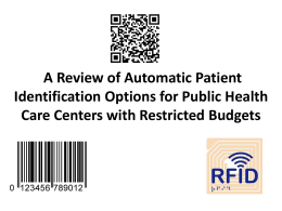 A Review of Automatic Patient Identification Options for Public