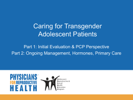 Gender Expression - Physicians for Reproductive Health