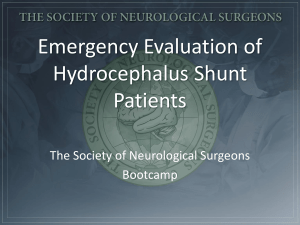 vii. Emergency Evaluation of Hydrocephalus and Shunts