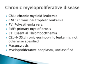 Chronic myeloproliferative disease2