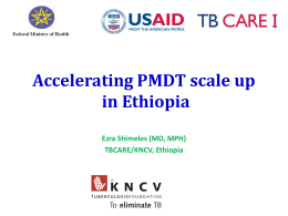 PMDT progress in Ethiopia